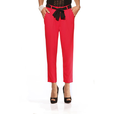 Miss Miss, pant red, pantaloni rossi, fiocco, flake