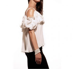 Be chic, top, shirt, fiore, blusa