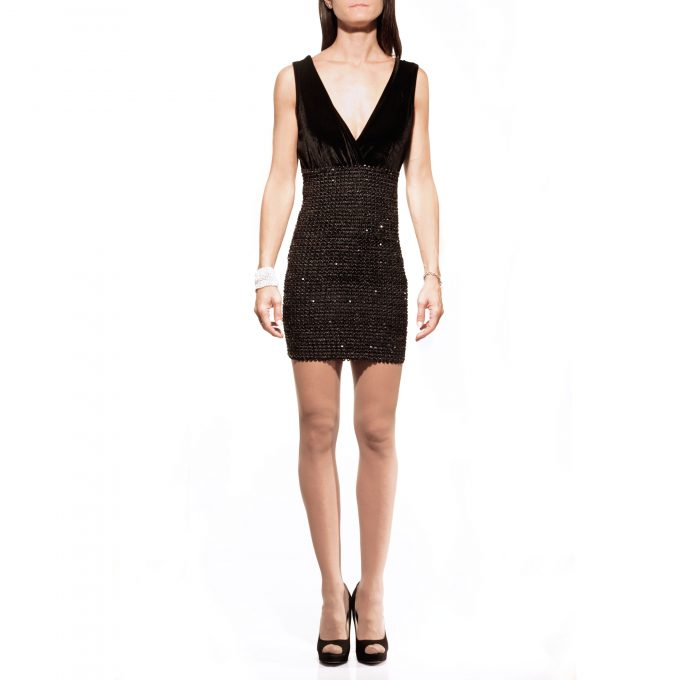 Abito nero paiette S3ss, dress