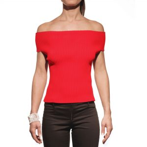 You You Jeans top rosso, shirt, maglietta, red