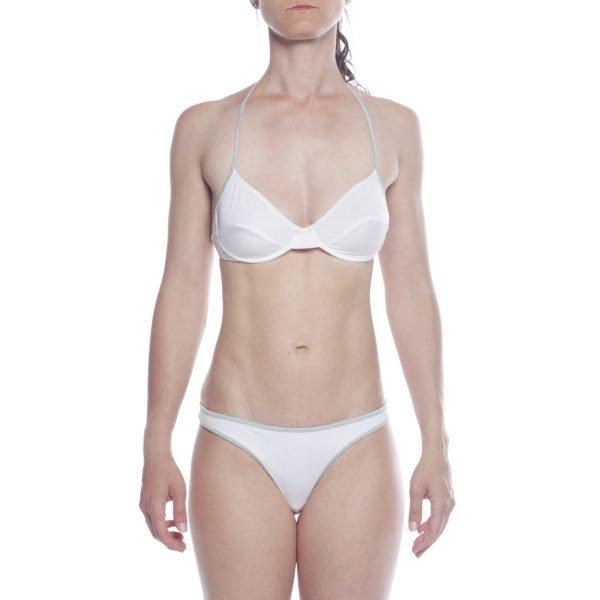 costume bikini Emporio Armani Jeans bianco con ferretto