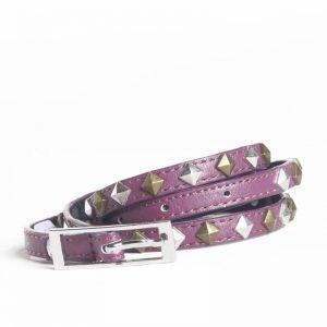 carpisa cintura pelle viola borchie metallo