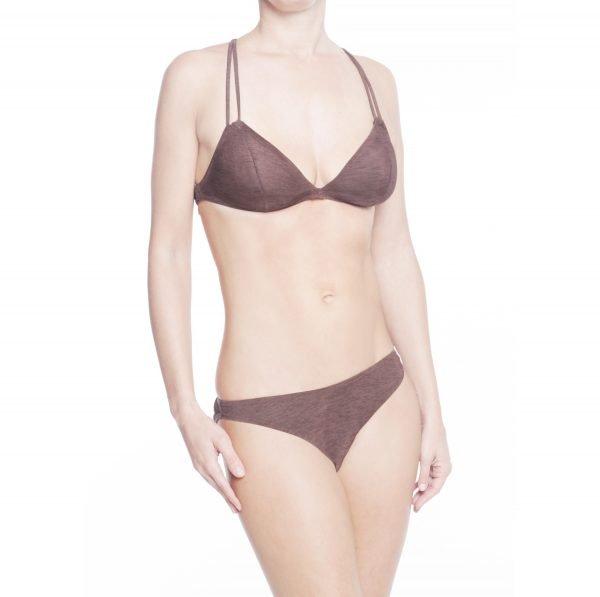 Emporio Armani bikini triangolo marrone