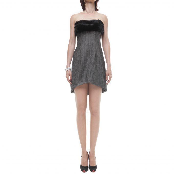 MANGANO - dress gem fur