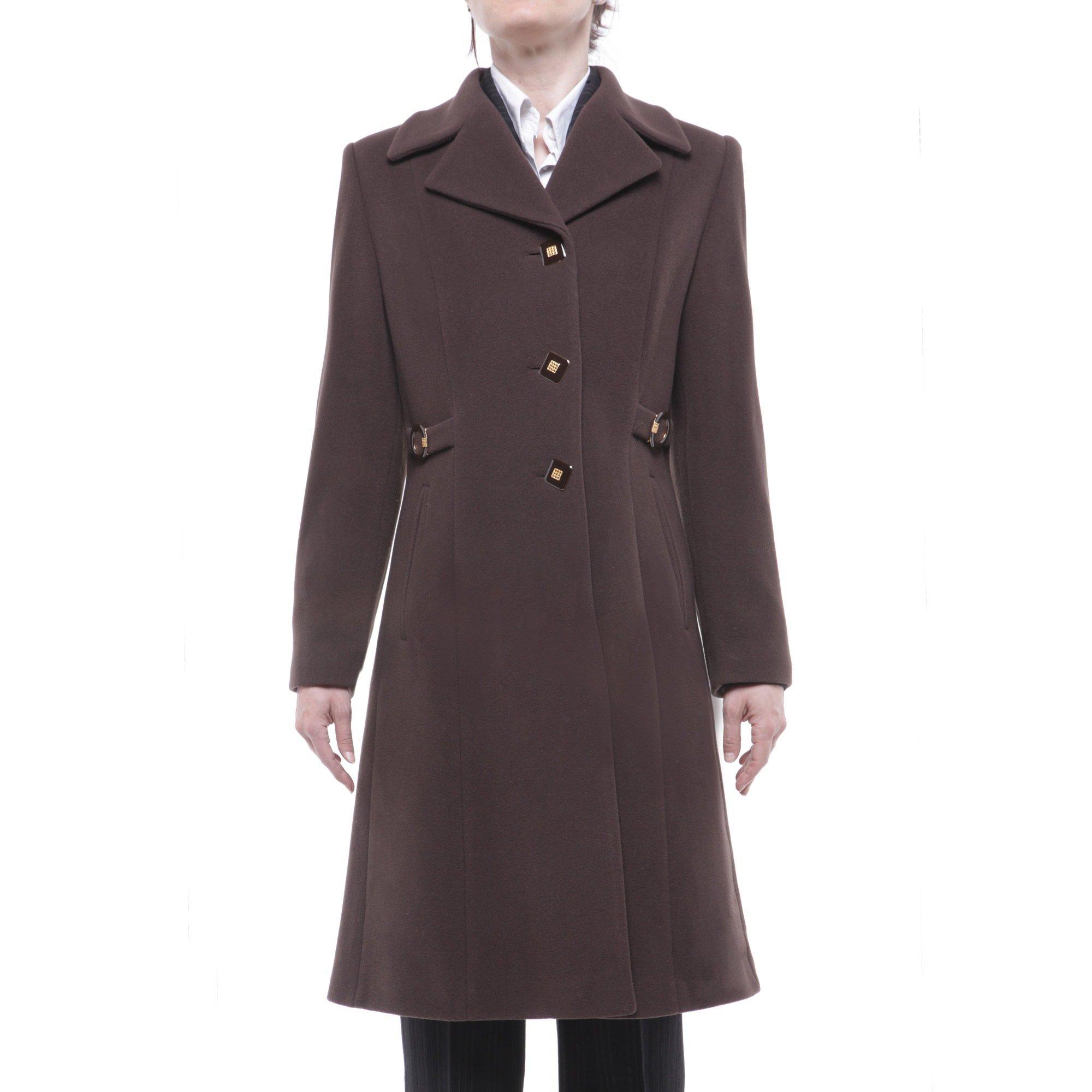 ICA cappotto lana monopetto