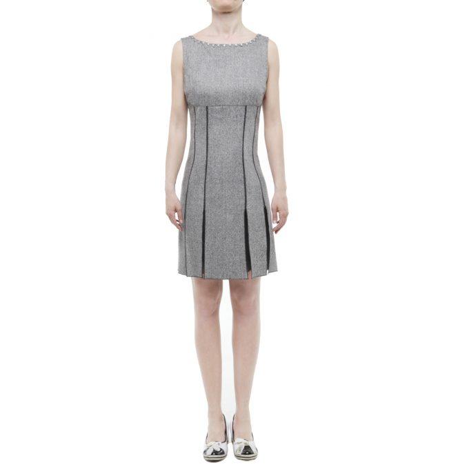 BLUGIRL by BLUMARINE - sleeveless wool grey dress