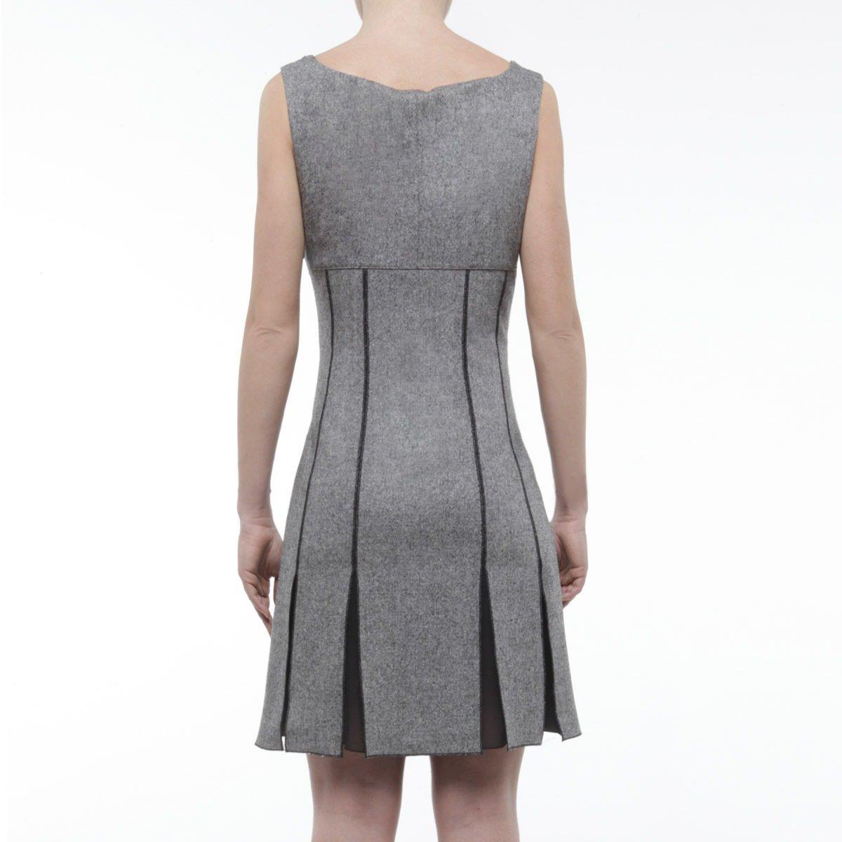 Blugirl by Blumarine abito grigio lana senza maniche
