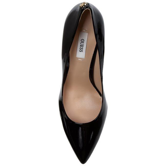 Guess decollette verniciata nera pelle tacco stiletto Scarpa Donna FL4PSMPAT08