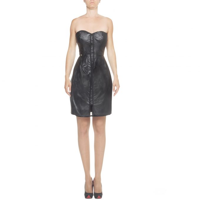 MANILA GRACE - mini dress in faux leather