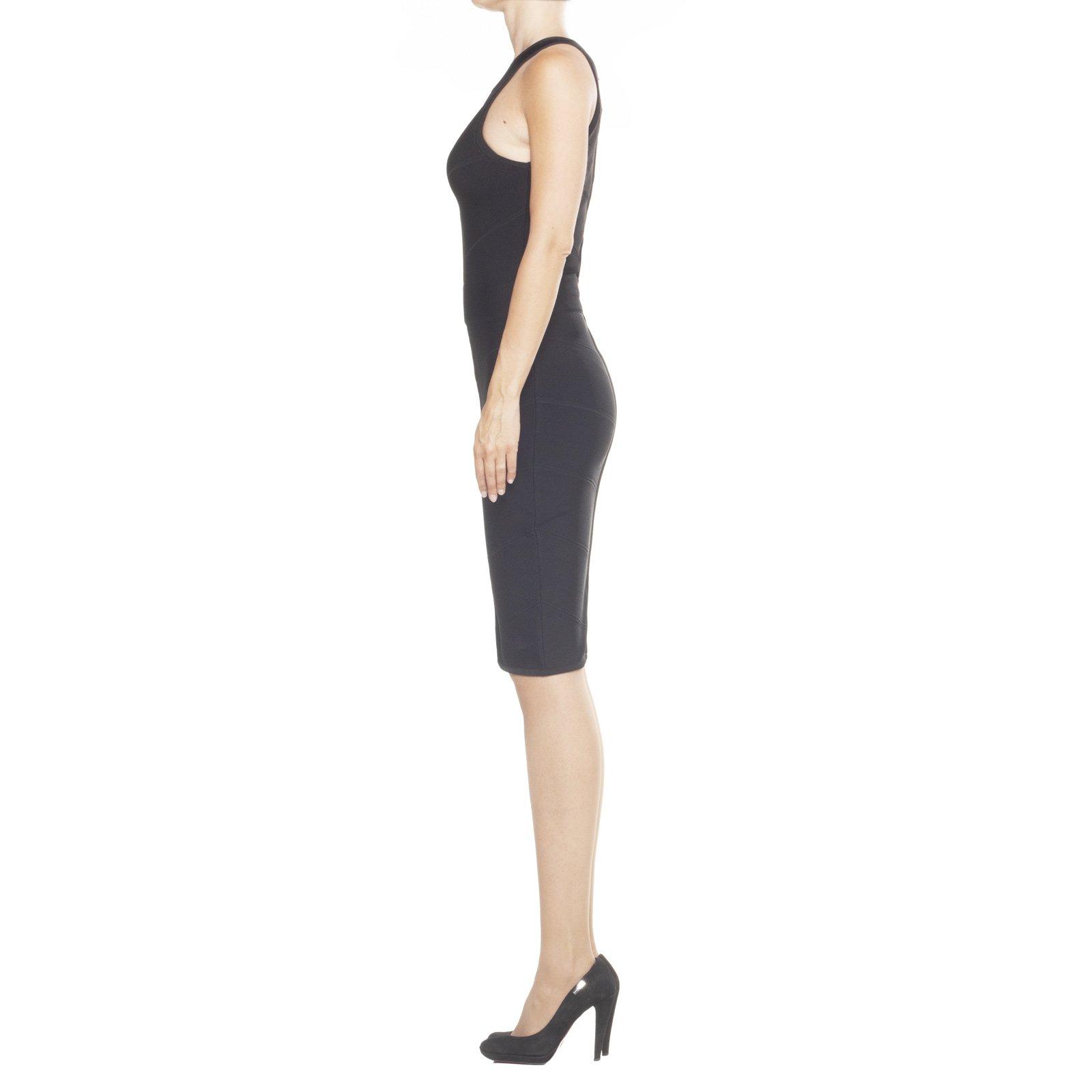 GUESS by Marciano, vestito nero, vestito senza maniche, vestito donna nero elasticizzato, abito tubino, applicazioni,