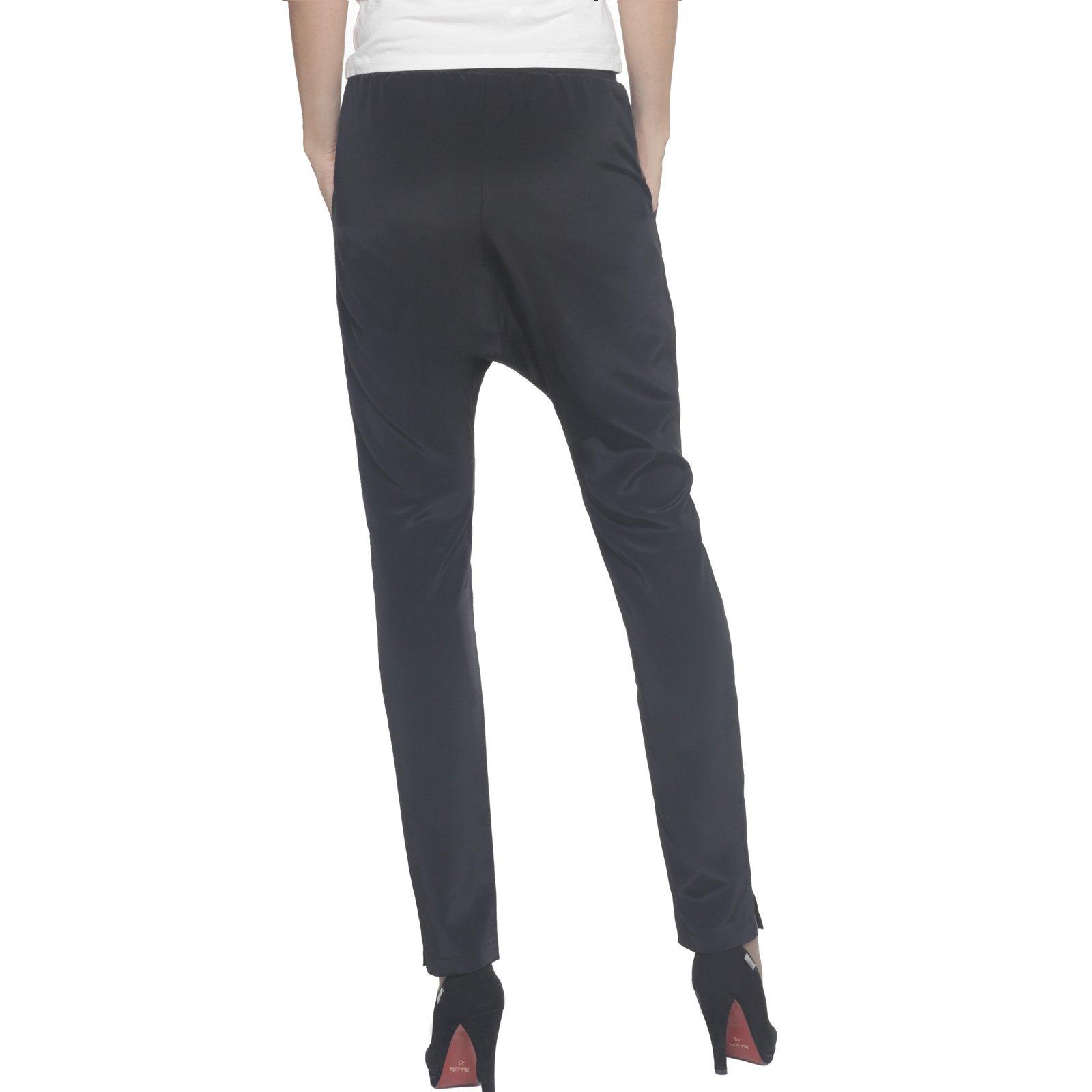 SILVIAN HEACH, Silvian heach pantalone nero, pants chroden, pantalone nero donna, pantalone vita elasticizzata, pantalone chino