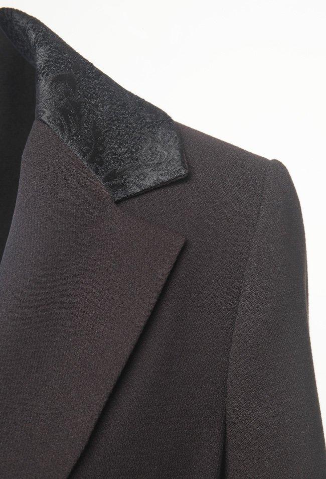 X'S - giacca lunga donna nera con spacco posteriore