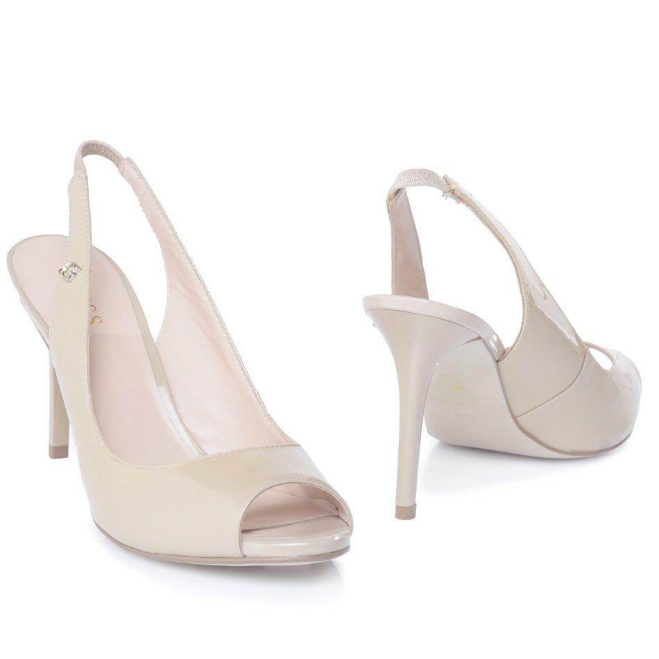guess-sandali-vernice FL2WTAPAT05,scarpa donna tacco basso, sandali guess tacco basso, sandali guess nude